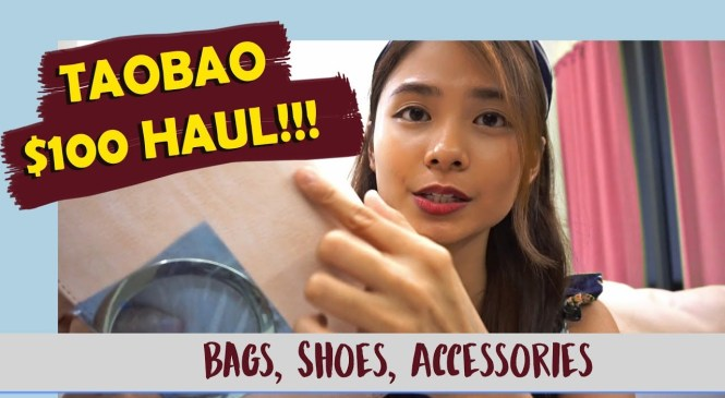 TAOBAO S$100 HAUL | 淘宝百元开箱 |Fashion Accessories Edition (Bags, Shoes, etc)