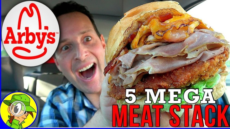 Arby's® | 5 Mega Meat Stack | Food Review! 🤠🍖♨️