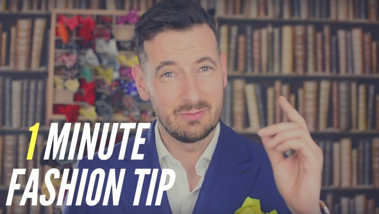1 min Quick fashion tip. Fashion Tips for Men. Dressing Style for Men. Quick Fashion Tip