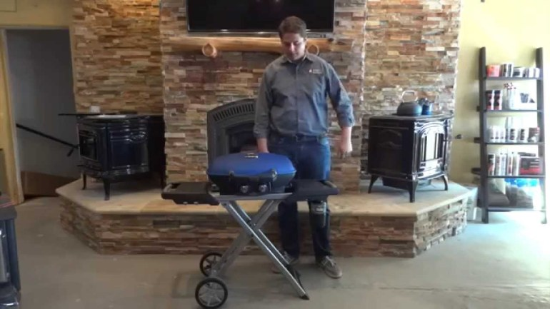 Napoleon Travel Q Portable Cart Gas Grill Propane Product Review How to use and install