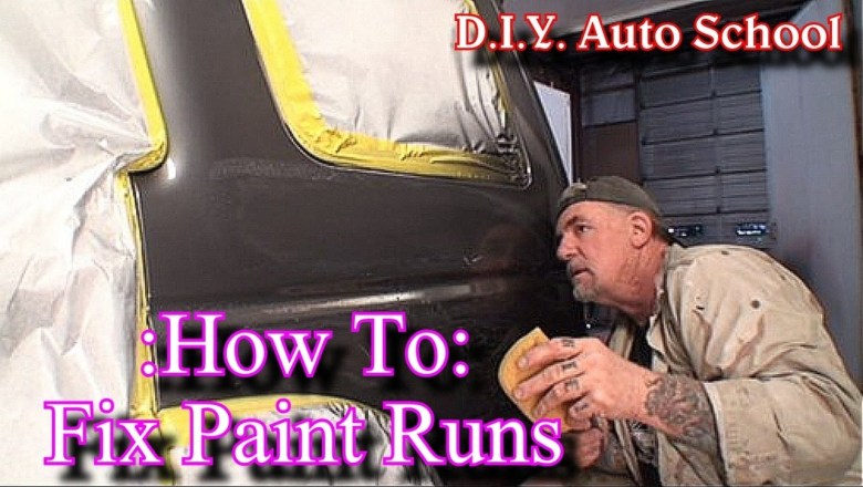 """""""How To Remove Paint Runs""""-Automotive Paint And Body Tech Tips and Tricks"""