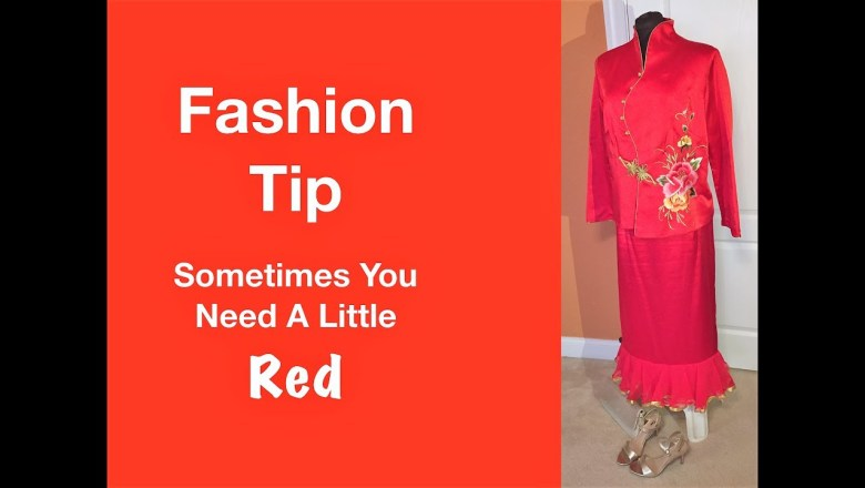 Fashion Tip Sometimes You Need To See Red – My Red Chinese Garment