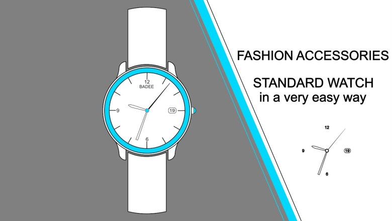 FASHION ACCESSORIES | HOW TO DRAW A WATCH | AFFINITY DESIGNER iPad