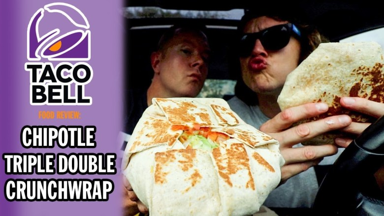 Taco Bell's Chipotle Triple Double Crunchwrap Food Review