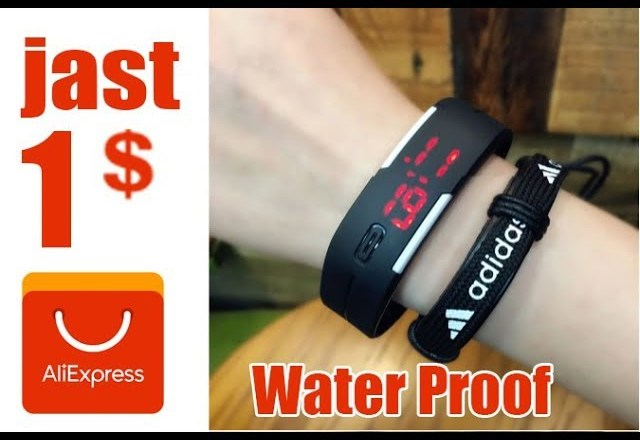 Review Product LED Sport Digital watch Water Proof  From Aliexpress