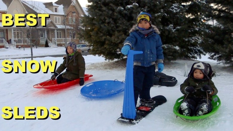 Top Best Snow Sleds for Kids | Product Review | Tobogganing Fun Family Time | LRH & Toys