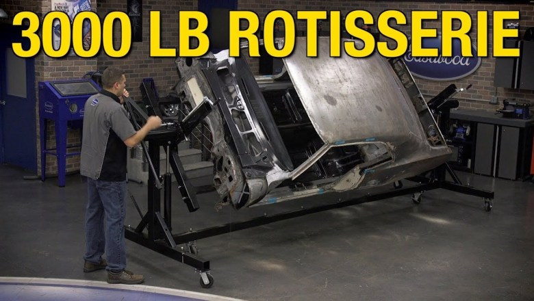 Heavy Duty 3000 lb Automotive Rotisserie – Great for Car & Truck Restorations – Eastwood