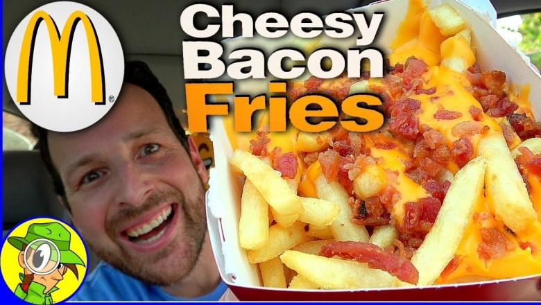 McDonald's®   Cheesy Bacon Fries   Food Review! 🧀🥓🍟