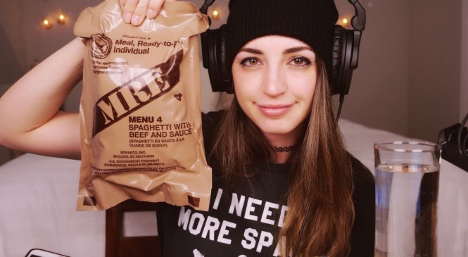 [ASMR] Meal-Ready-to-Eat Review | MRE Menu 4 Spaghetti with Beef and Sauce