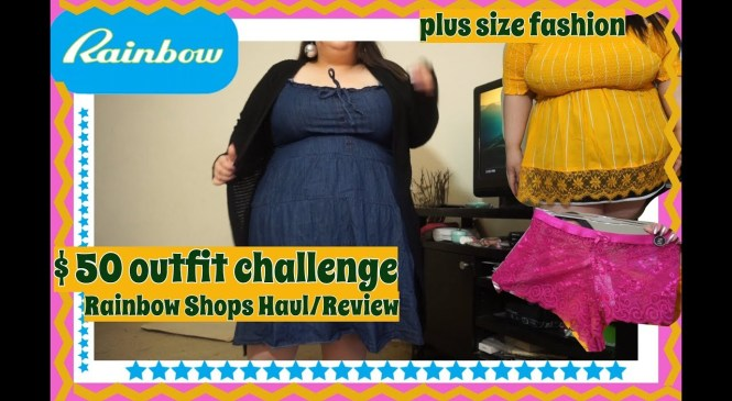 $50 OUTFIT CHALLENGE AT RAINBOW SHOPS|HAUL+REVIEW|PLUS SIZE FASHION