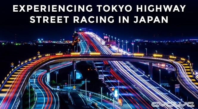 Street Racing on the highways of Tokyo in Japan