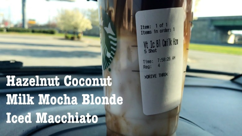 STARBUCKS HAZELNUT COCONUT MILK MOCHA BLONDE ICED MACCHIATO DRINK REVIEW