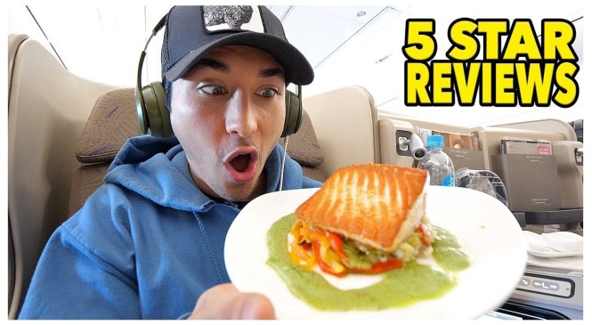 First Class Food Review On 19 Hour Flight (5 Star)