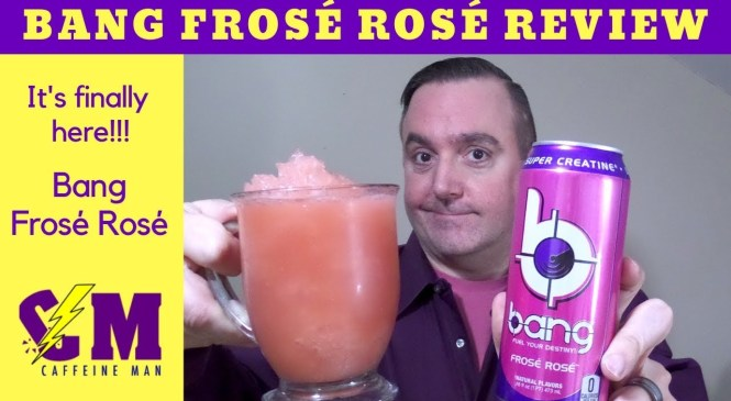 NEW Bang Frosé Rosé Energy Drink Product Review! Bang Energy Drink
