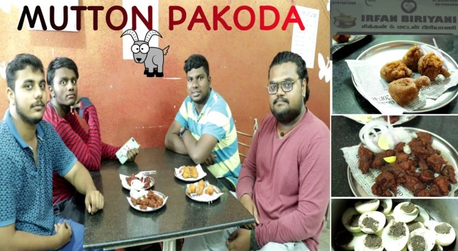 1st MUTTON PAKODA IN CHENNAI | CHENNAI STREET FOOD | FOOD REVIEW