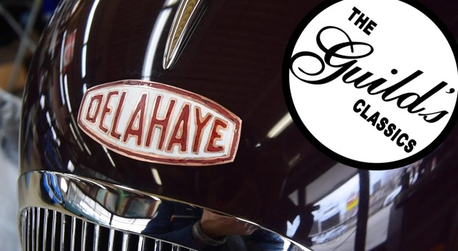 Chasing and Repoussé on a Delahaye automotive badge