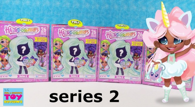 Hairdorables Series 2 Fashion Doll Unboxing Blind Bag Toy Review | PSToyReviews