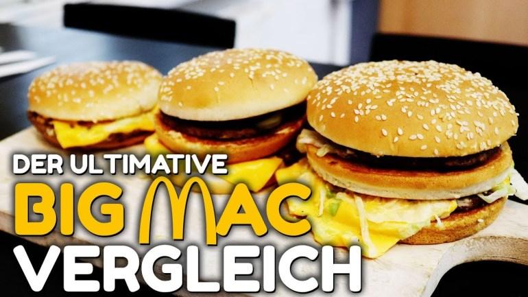 DER GROßE McDONALDS BIG MAC VERGLEICH – die drei BigMac Varianten im Food Review