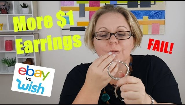 More $1 EARRINGS! (funny fail) A very EXTRA product review. Ebay vs Wish. Expectation vs reality.