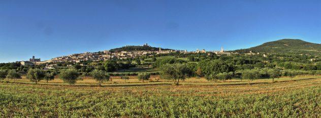 Assisi, panorama.