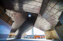 The corten steel roof