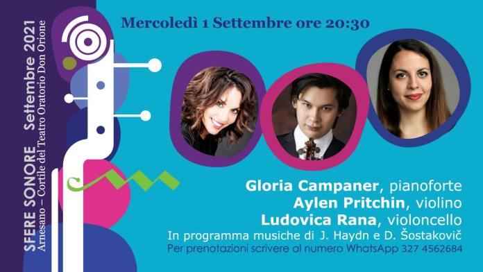 """Riparte mercoledì 1 settembre ad Arnesano (Le) la Stagione Concertistica """"Sfere Sonore"""""""