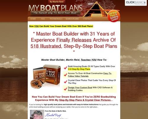 Myboatplans 518 Boat Plans – Earn $70.65 Per Sale! + $5 Bonus!