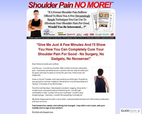 Shoulder Pain No More ™: Top Shoulder Pain Healing Product On CB
