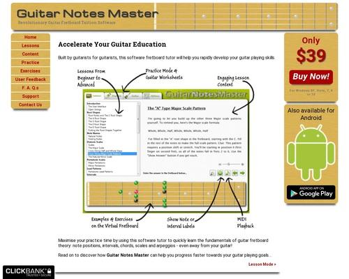 Guitar Notes Master – Home
