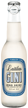 Laitilan Gini Long Drink (5,5 %) lasipullo.