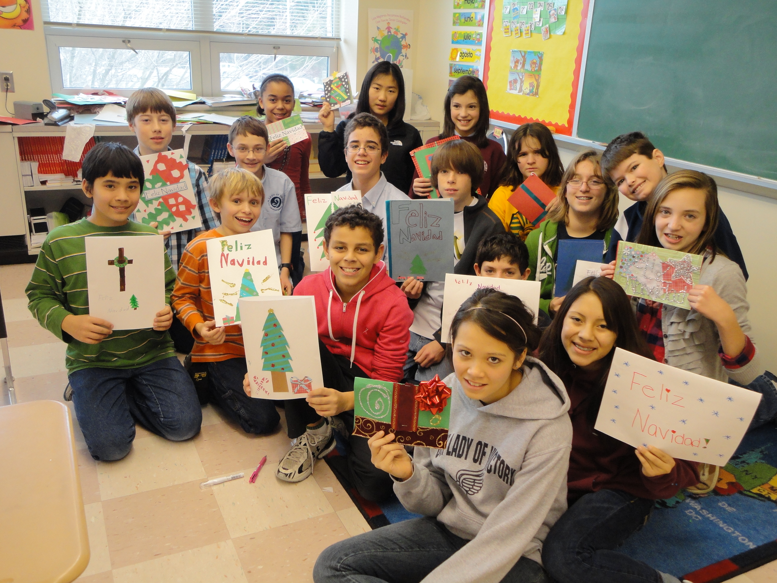 Middle School Spanish Christmas Service Project