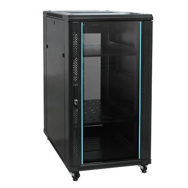 32u 600x800 server rack cabinet uncoupled with high grade 6 ways power distribution unit pdu