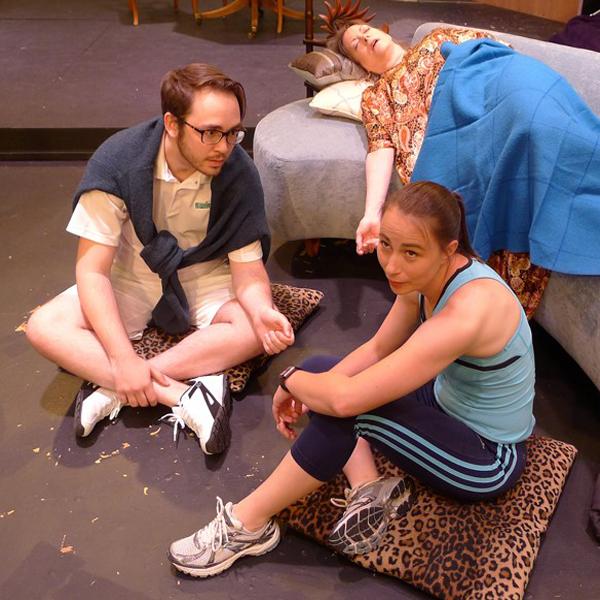 Cameron Waters, Bonnie Vandver and Silva Goetz in OLT's Other Desert Cities.