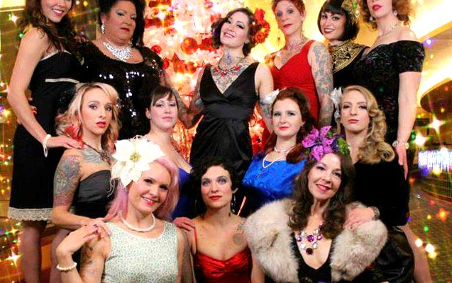 The ladies of TUSH! Burlesque