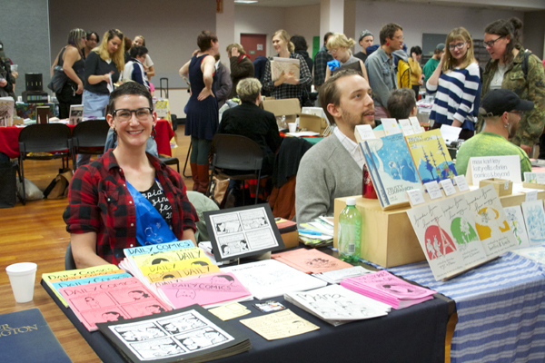 Chelsea Baker at Olympia Zine Fest 2015, photo by Emily McHugh