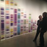 """""""Chromosome Painting Edition II 1-X"""" by Geraldine Ondrizek, dyed silk, photo by Lynette Charters"""