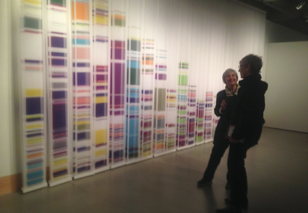 """Chromosome Painting Edition II 1-X"" by Geraldine Ondrizek, dyed silk, photo by Lynette Charters"