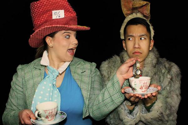 Elizabeth Alexander and Simon Tran in Alice in Wonderland