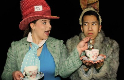Elizabeth Alexander and Simon Tran in Alice in Wonderland