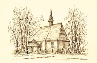 Marek Chabrowski, ink drawing