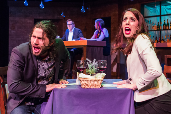 Will Lippman, Bruce Haasl, Christie Oldright and Carolyn Willems Van Dijk in First Date. Photo courtesy Harlequin Productions