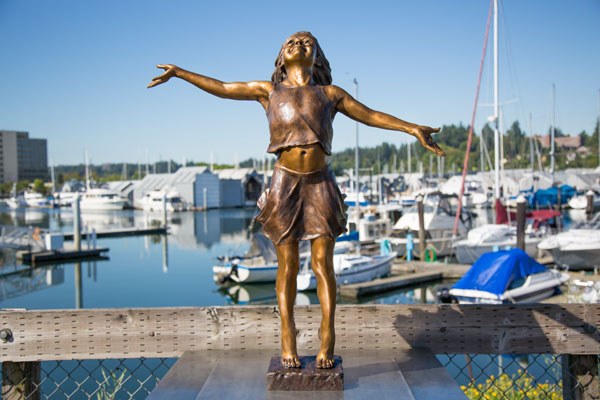 """Joie de Vivre,"" sculpture by David Varnau"