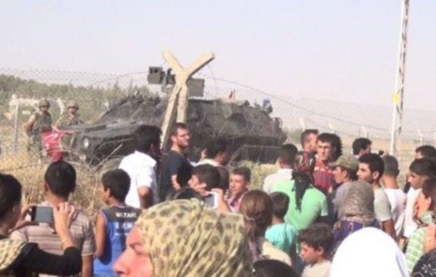 Με ψευδοπροσχήματα η Τουρκία καταπάτησε 20 μέτρα από το έδαφος της Συρίας