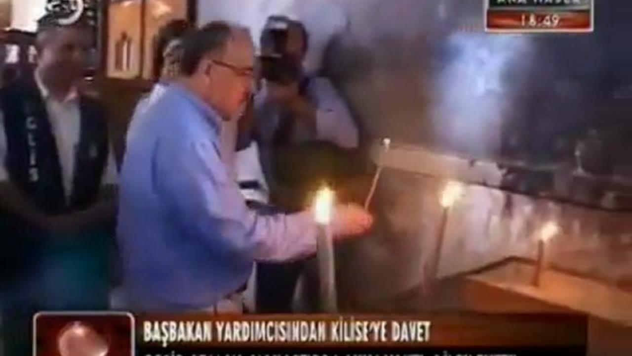 """""""ΓΕΡΗ ΣΦΑΛΙΑΡΑ"""" στον """"Σουλτάνο""""… Ανάβει κεριά σε Μοναστήρια και Εκκλησιές ο αντιπρόεδρος της Τουρκίας!"""