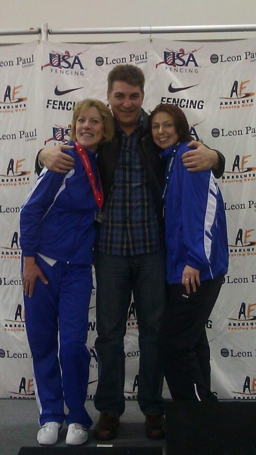 Christina, Daniel and Natalia Veteran Women's Epee at the December 2012 NAC