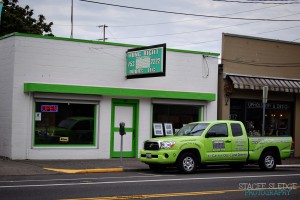 hungrightdoors green trucks