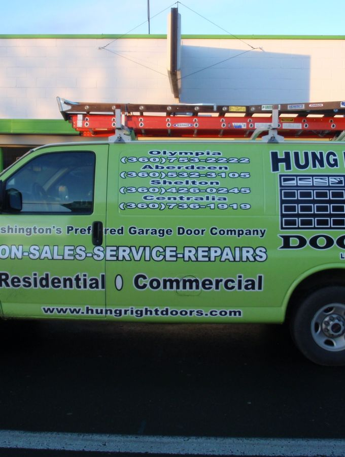 Hung Right Doors Service Van