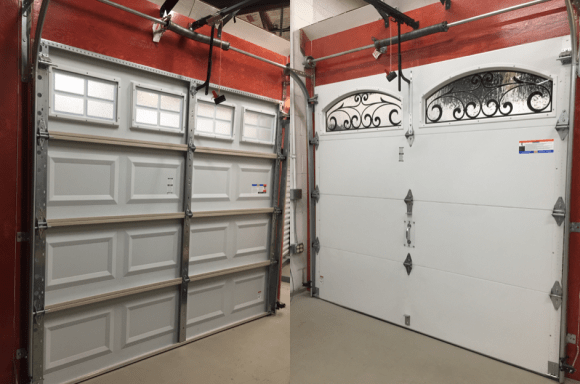 insulated-and-non-insulated-garage-doors-hung-right-doors-wa