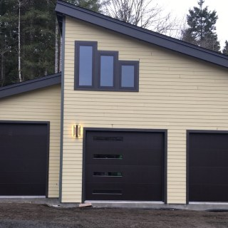 modern garage door with sleek lines - Hung Right Doors Olympia Wa