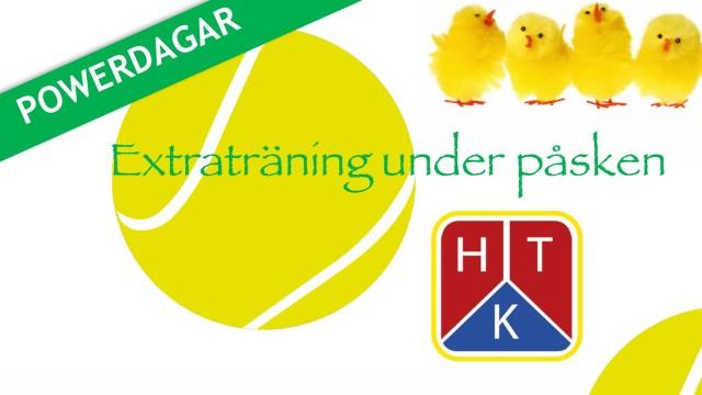 HTK Tennis med extra träning under påsken – anmäl dig!